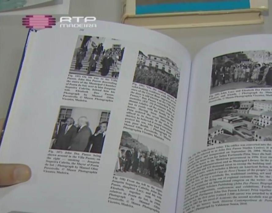 Livro da autoria de Miguel Oliveira apresentado na reportagem de Catarina Cadavez da RTP-Madeira. © RTP-Madeira