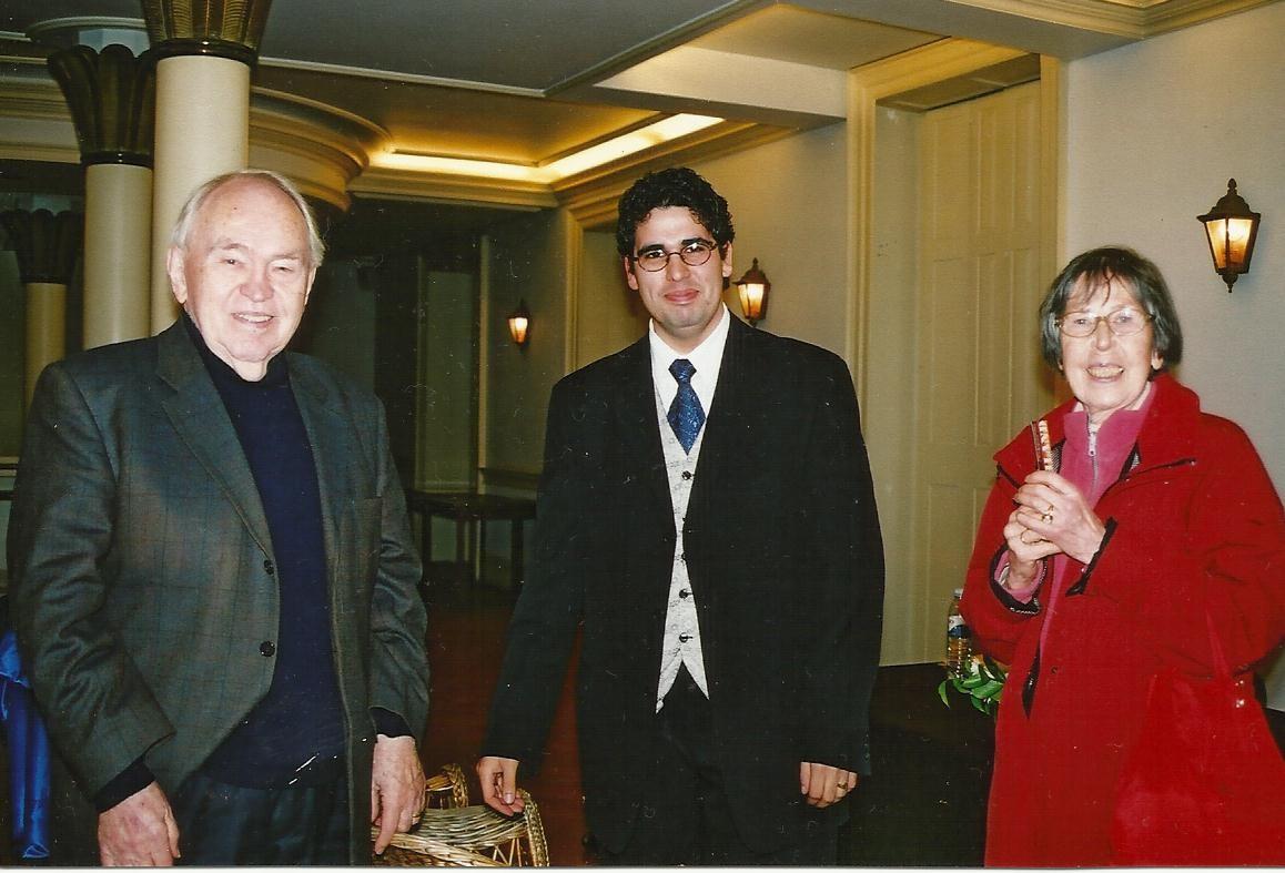 Prof. Dr. Dr. h.c. mult Eugen Seibold, Miguel Oliveira und Prof. Dr. Ilse Seibold