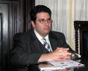 Miguel Oliveira no Salão Nobre da Câmara Municpal da Ribeira Brava
