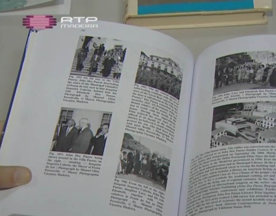Book by Miguel Oliveira in the news report by Catarina Cadavez, RTP-Madeira. © RTP-Madeira
