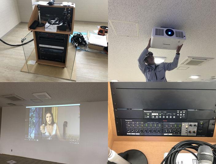 会議室用AV設備の導入設置取付工事【新潟市東区】