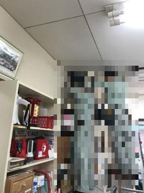 防犯用監視カメラ設置取付工事の様子。その2【新潟市西区|老人ホーム】