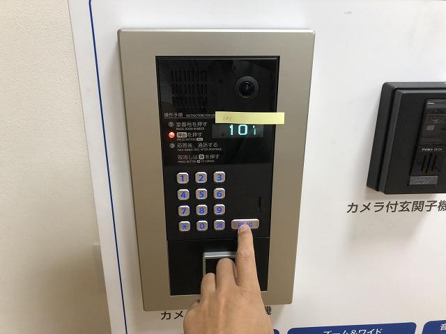 マンション用インターホンの「集合玄関機」をテスト【新潟】