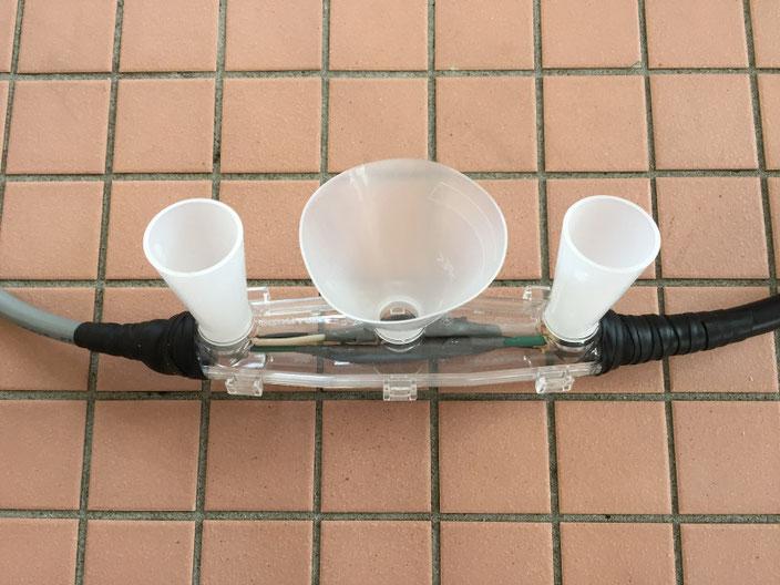レジン注入形ケーブル接続キット「セルパック」を使用した電気ケーブル接続工事の流れ。その4【新潟】