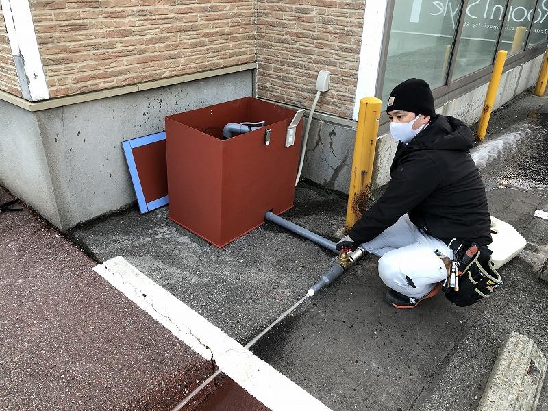 消雪用井戸ポンプ設置工事(新潟市東区|事業所)
