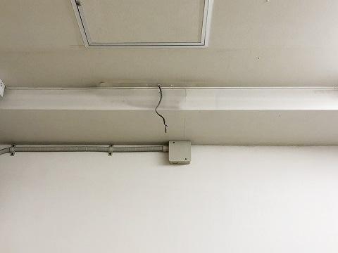 耐用年数を過ぎた避難誘導灯:撤去後