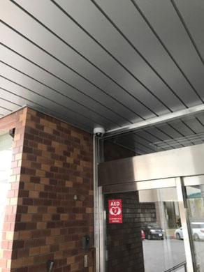 防犯用監視カメラ設置取付工事の様子。その4【新潟市西区|老人ホーム】