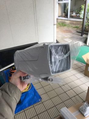 裏口に設置する屋外赤外線デイライト防犯カメラ【新潟市西区】