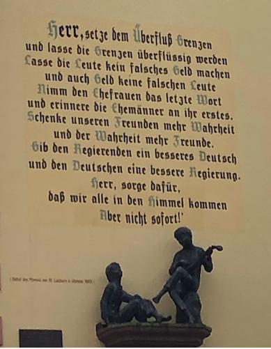 Zu guter letzt noch der Spruch des Urlaubs. So gesehen an einer Fassade in Bernkastel-Kues.