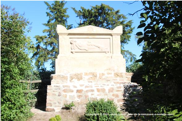 Tombeau de Marie Joly restauré
