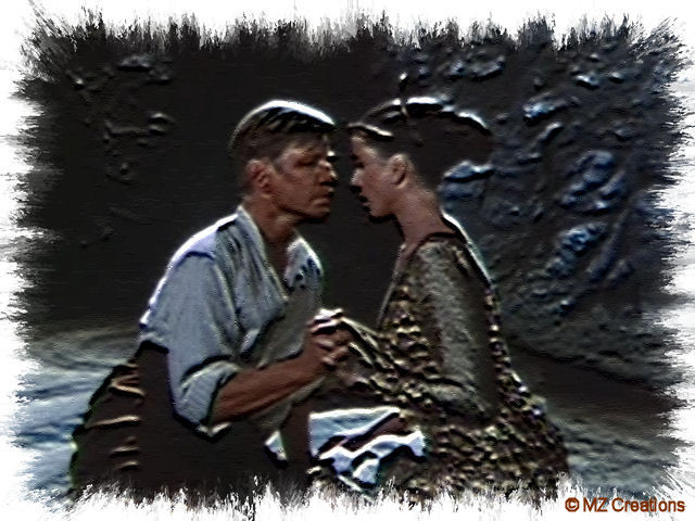 In this creation you see Michael York & Andie MacDowell. I've used an effect and a frame for it. ;-)