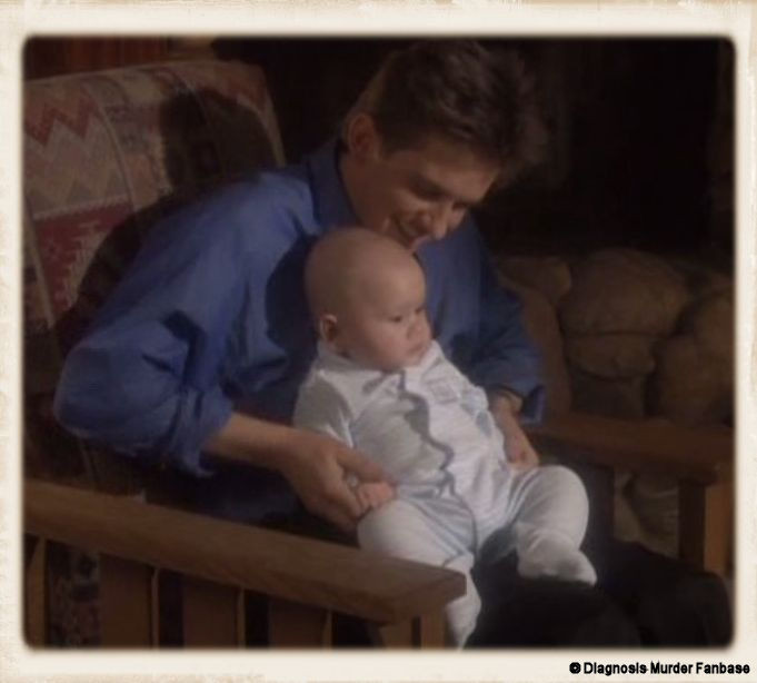 "First this great screenshot (with Jesse Travis & the baby) in this creation is made by myself. It's from the DM-episode #15 called ""Bachelor Fathers"" of Season 8."