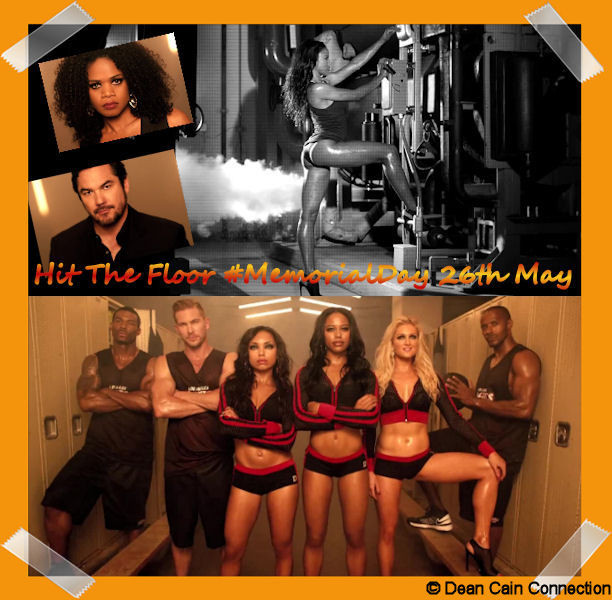"My ""Hit The Floor""-creation with some of the Devil Girls Dance Team and some boys of the series basketball-teams. On the top you see Dean Cain, Kimberly Elise & Taylour Paige."