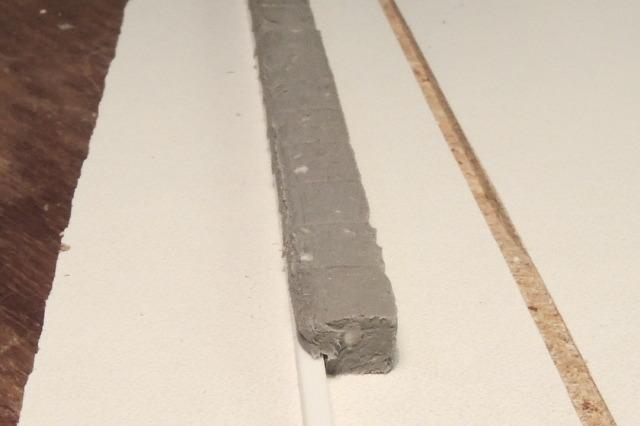 faîtage de mur en pâte à modeler