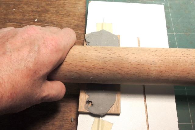 fabrication de faîtage de mur pour portail PN SUD en pâte à modeler