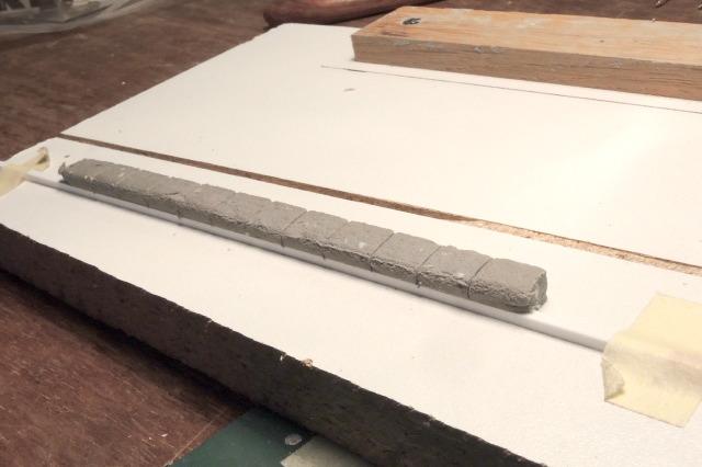faîtage de muren pâte à modeler