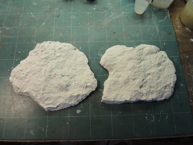 rochers en platre bruts