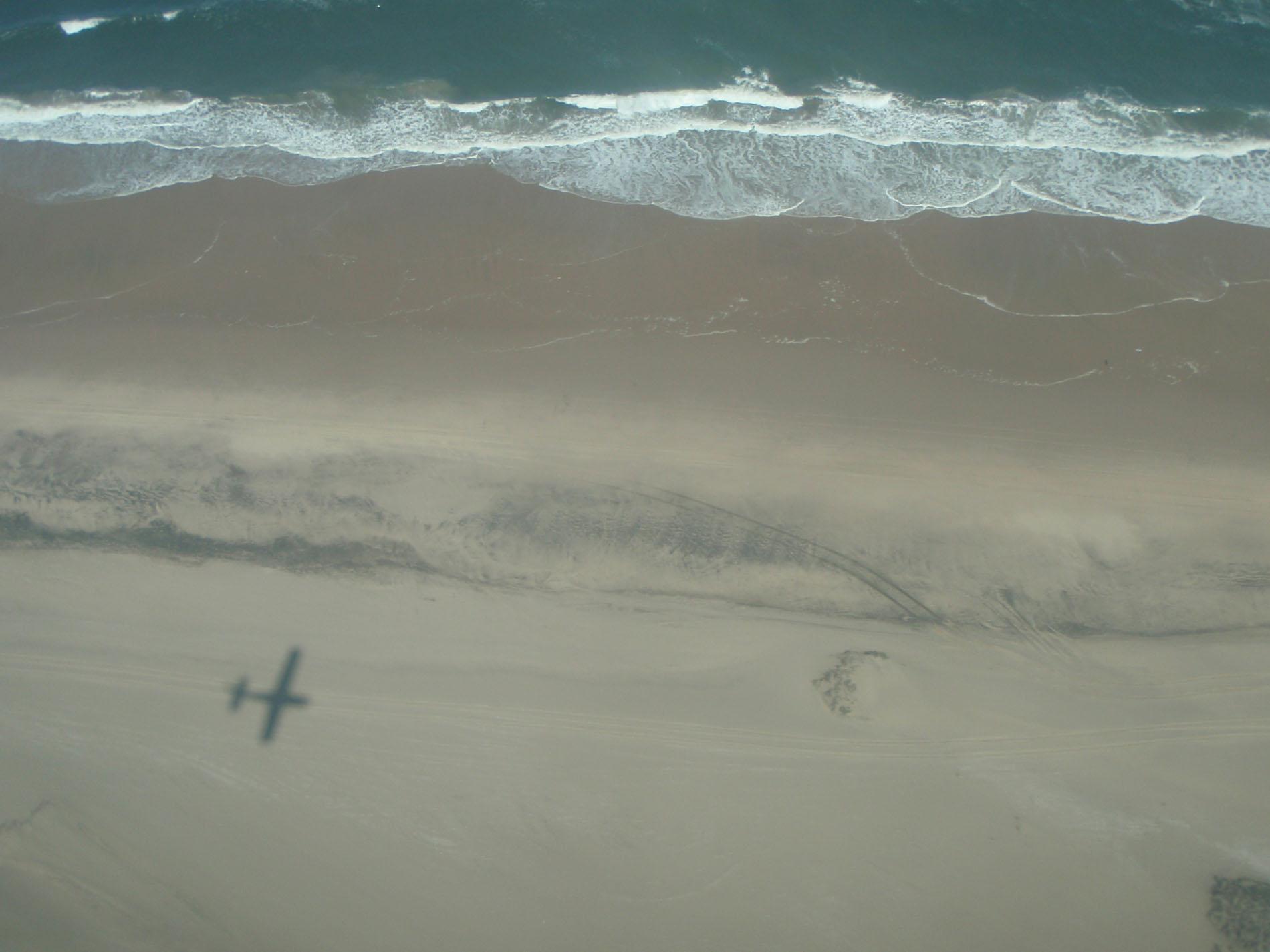 Anflug auf Swakopmund