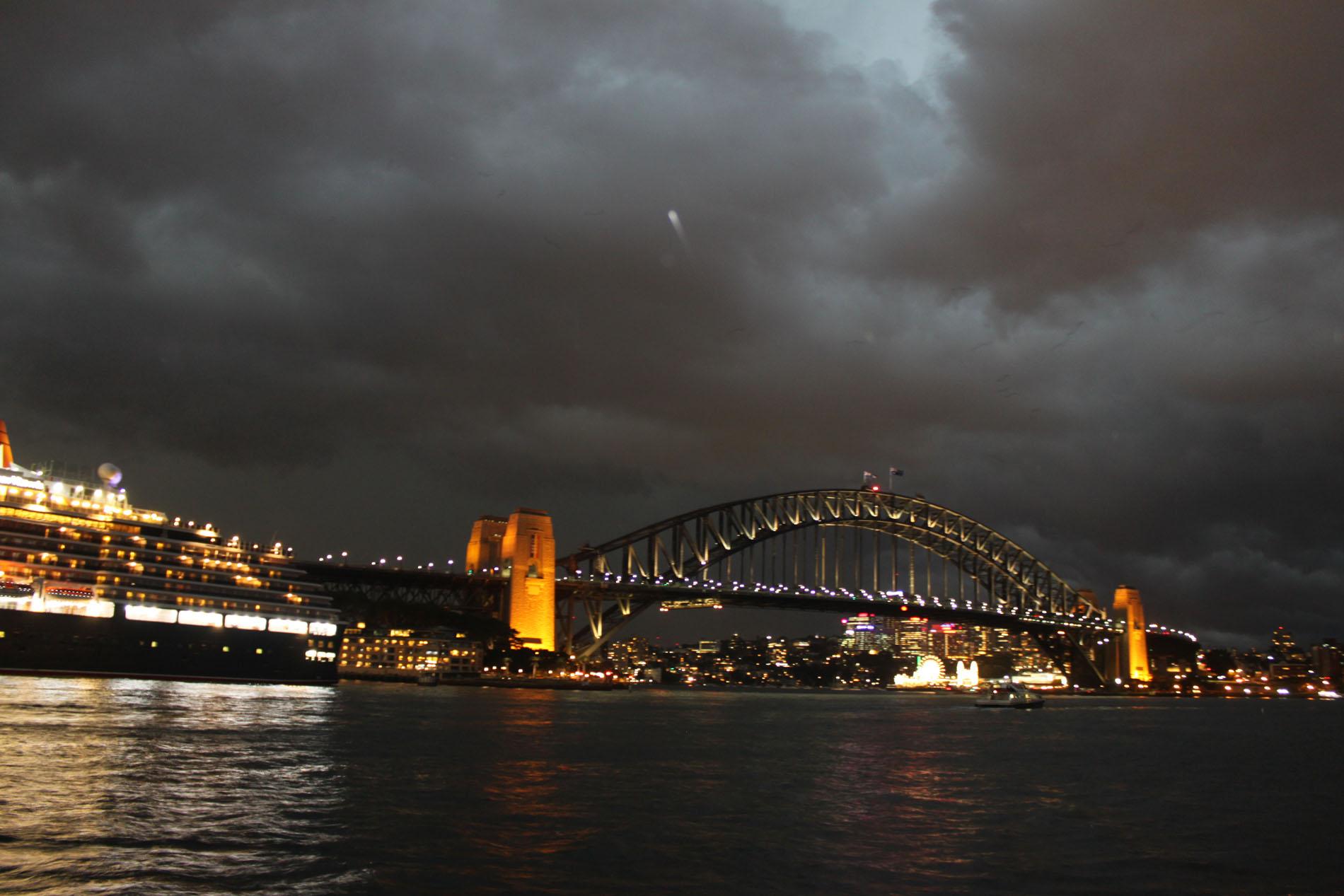 Gewitter im Hafen von Sydney