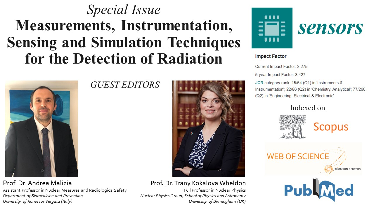 """Special Issue """"Measurements, Instrumentation, Sensing and Simulation Techniques for the Detection of Radiation"""""""