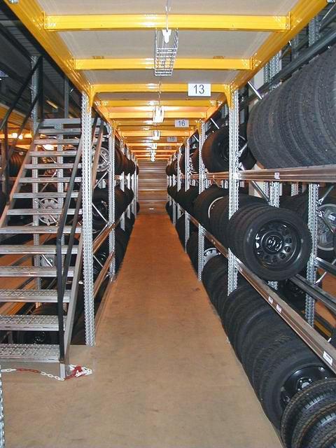 Mehrgeschossiges Reifen-Lager