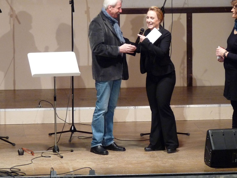 Stadtrat Helmut Nerbaß und Karin Späth