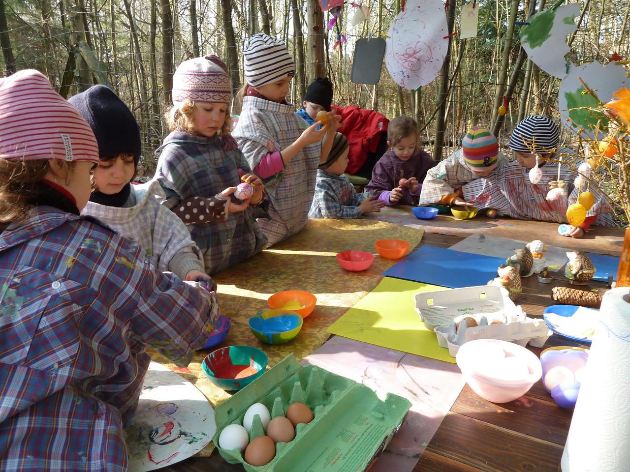 Eier anmalen für Ostern