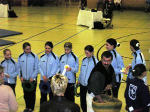 Erster C-Start: Johanna, Ina, Lisa, Kathi, Freya, Laura, Sophia und Xenia.