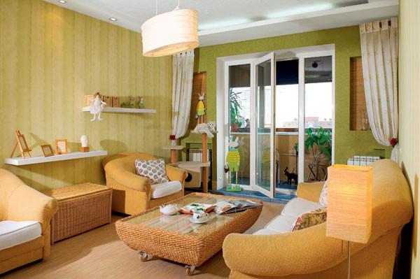 дизайн однокомнатной квартиры для семьи с ребенком фото чешка