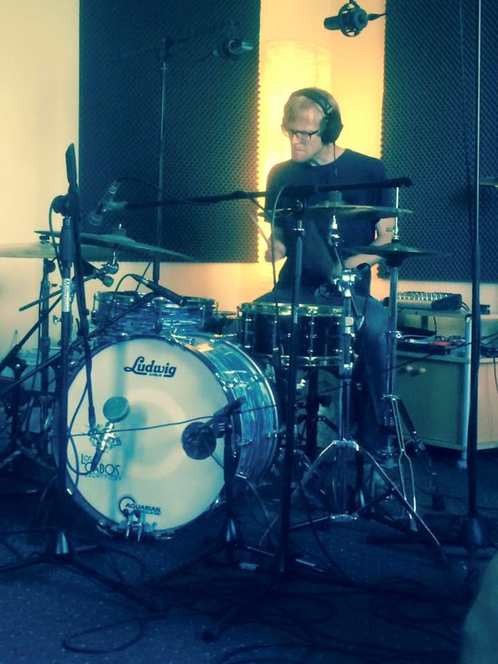 Schlagzeugaufnahmen mit Helge Preuß für die kommende Lindenpop EP
