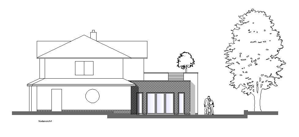 Wohnhausanbau mit Dachterrasse in Achim-Baden
