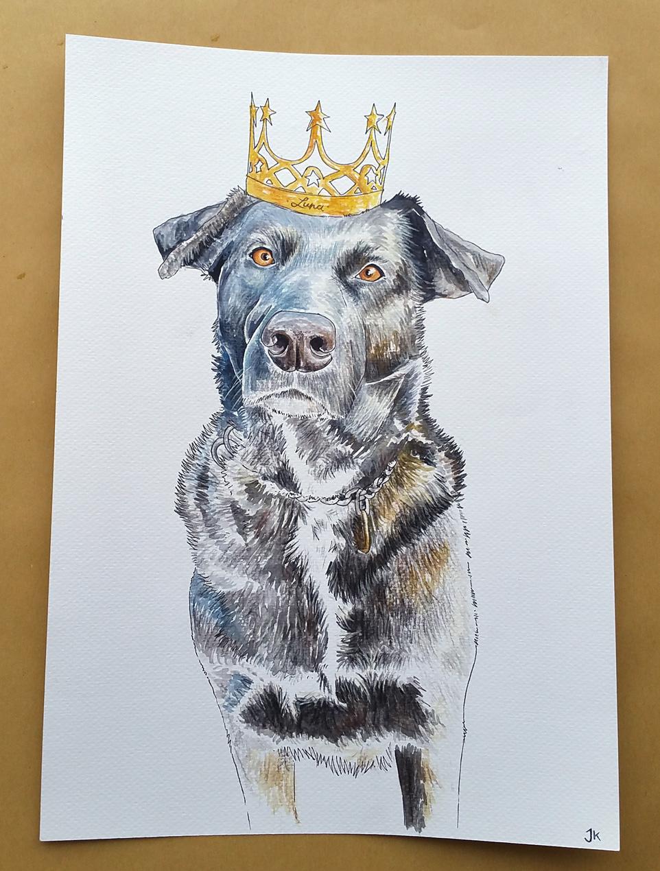 Luna, die Prinzessin mit der Krone (Extrawunsch der Kundin)
