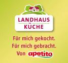 Landhausküche von apetito                 Essen auf Rädern                 Dianaweg 1                 22529 Hamburg                 Tel. 0 40 - 89 20 00                 Email: info@landhaus-kueche.de