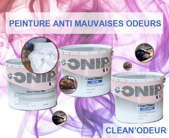 CLean Odeur est une peinture de finition pour la protection et la décoration de vos murs et plafonds bénéficiant de la technologie Clean Odeur que capte et détruit les odeurs désagréables (odeurs corporelles, de cuisine, d'humidité, de tabac)
