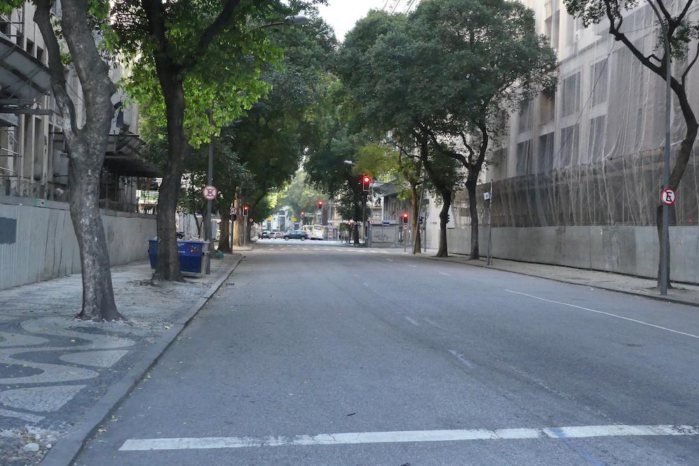 Le centre ville est désert