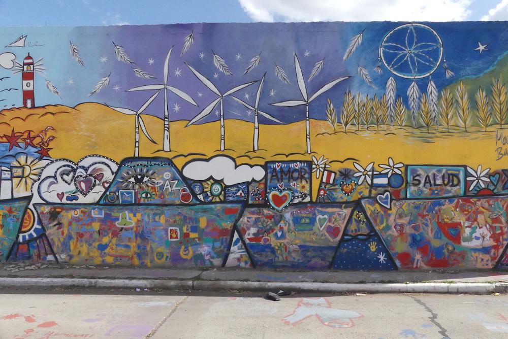 Fresque dans le port de Bahia Blanca