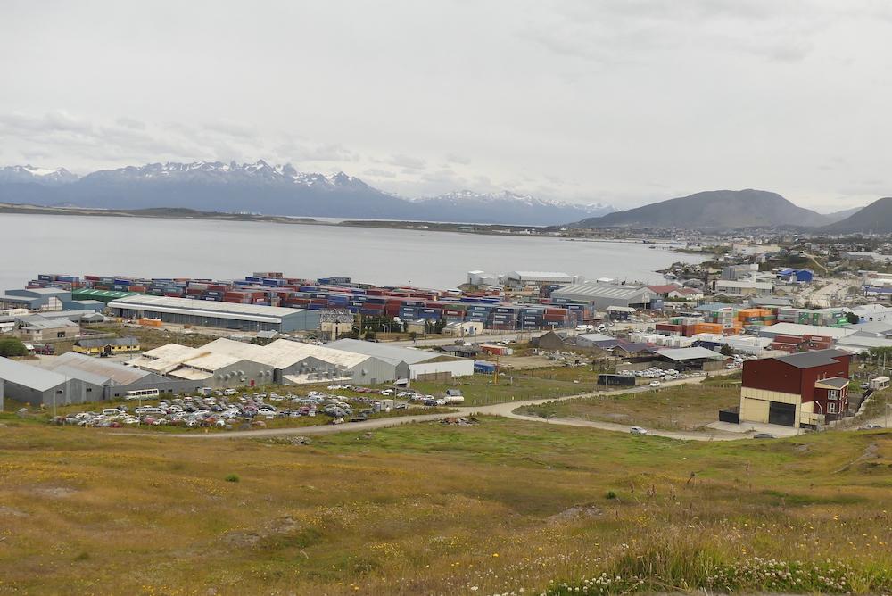 La baie d'Ushuaïa en arrivant