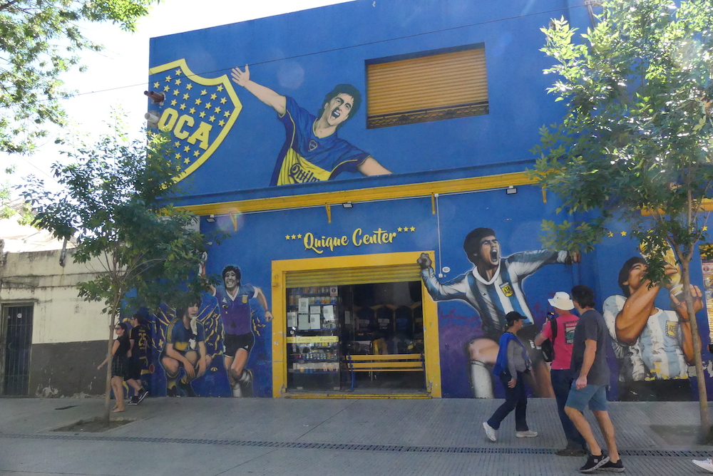 Stade de Boca junior. La boutique