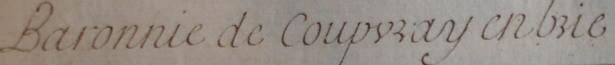 « Baronnie de Coupvray en brie» au 18esiècle