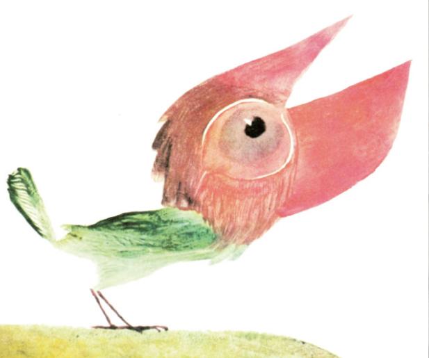 Illustration: Wolfgang Würfel; aus: Werner Heiduczek, Der kleine hässliche Vogel; © 2006 Faber & Faber