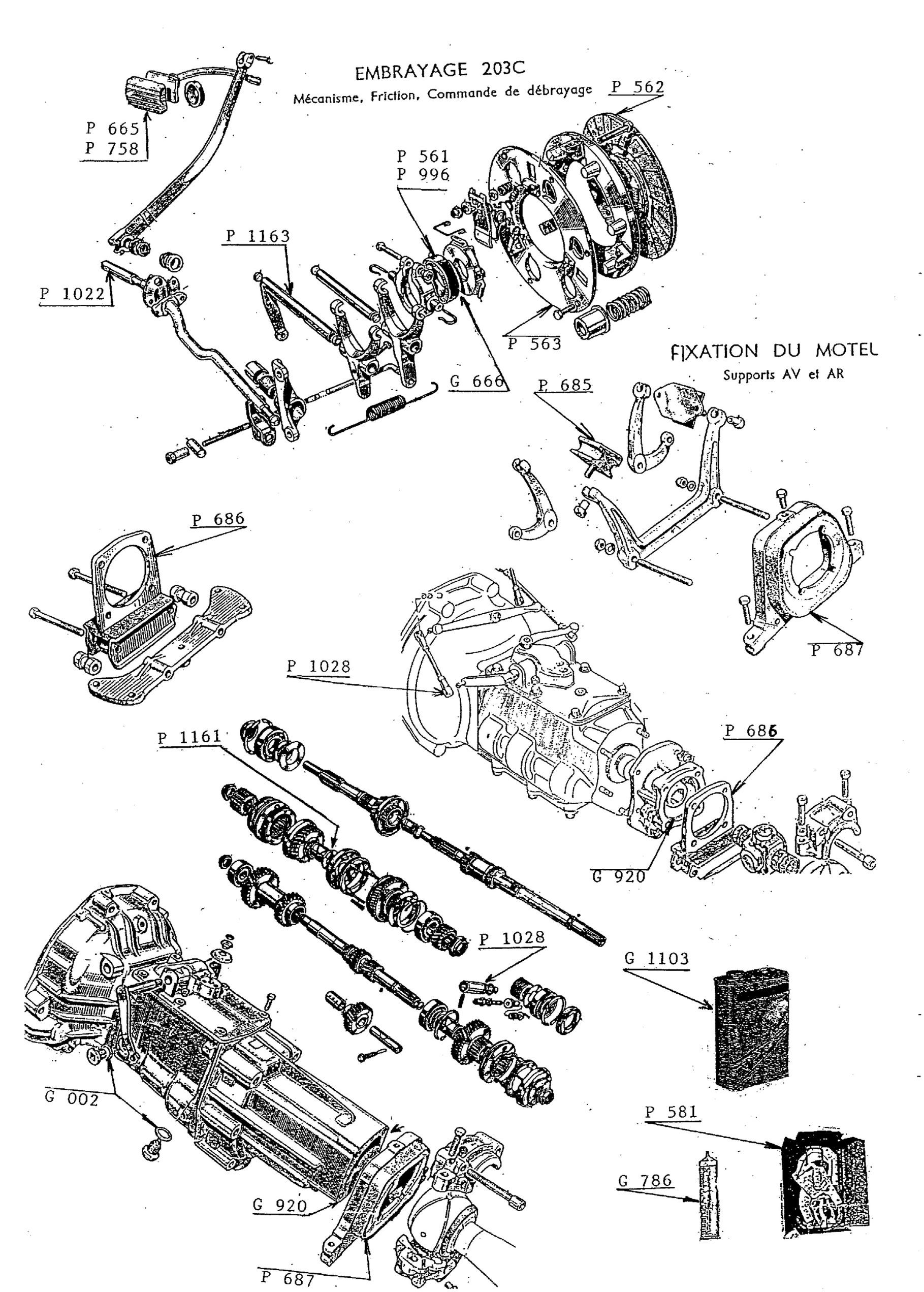 embrayage - silenblocs moteur bo u00eete  u00e0 vitesses