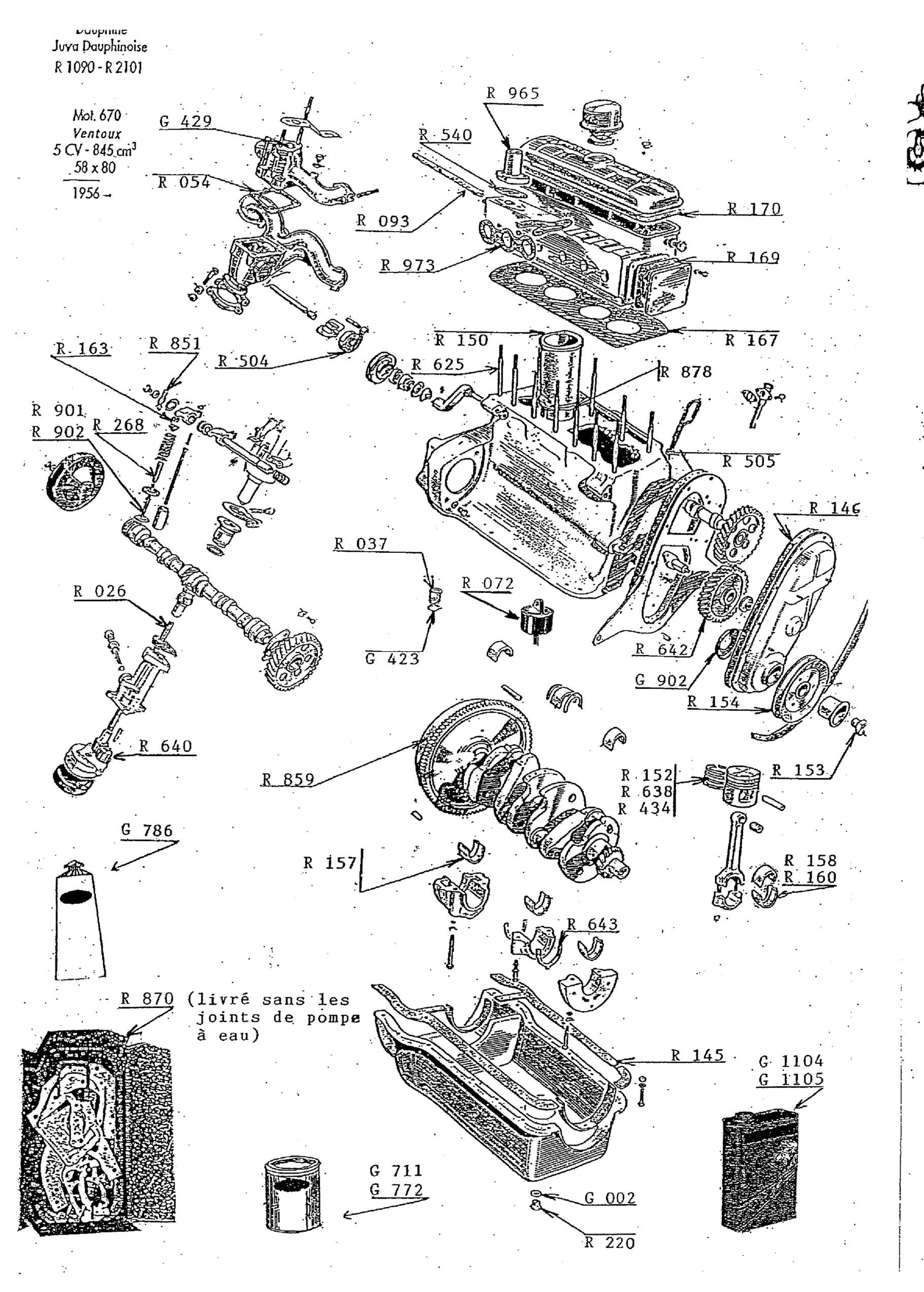 moteur 670