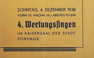 Bild: Festheft-Cover 4. Wertungssingen 1938