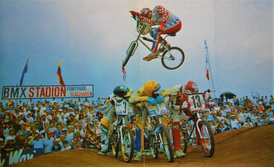 BMX Stadion in Ponypark Slagharen (1983).