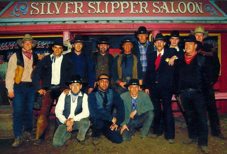 Een seizoen van de acteurs van de Wild West Shows in de jarenn '90.