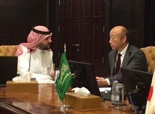 青山委員長とサウジ総合投資庁(SAGIA)幹部との面談