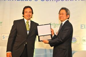 ブラジルESCO協会とMOU締結 ESCO協会会長(左側)