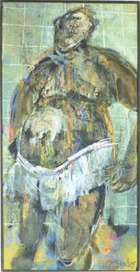 Schiesser-Feinripp | Acryl auf Leinwand | 120 x 60 cm