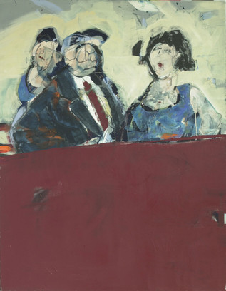In der ersten Reihe | Acryl auf Leinwand | 120 x 80 cm