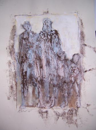Familienbande, Mischtechnik, 70 x 50 cm